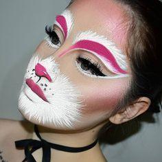 Bunny baby  @bennyemakeup Clown White Makeup  @sugarpill Dollipop Pressed Eyeshadow  @sigmabeauty Line Ace in Endorse  @anastasiabeverlyhills Liquid Lipstick in Rio @anastasiabeverlyhills Glow Kit Sweets- Sassy Grape