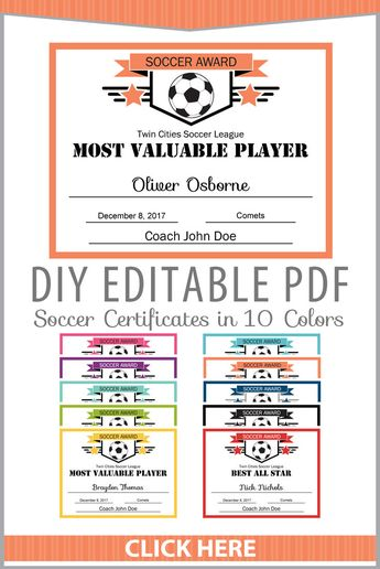 editable pdf sports team soccer certificate diy award temp
