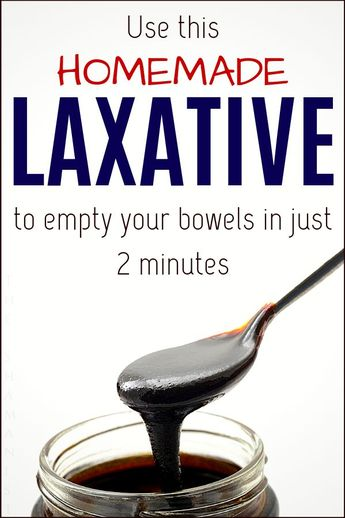 Use This Homemade LAXATIVE to Empty Your Bowels in Just 2 Minutes