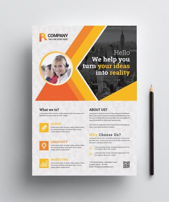 Corporate Print Flyer Design - Graphic Templates