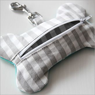 """Cute. Should be fun to make. PDF pattern sold by Boys and Bunting: """"Doggy Poop Bag Dispenser"""" #DogWalking"""