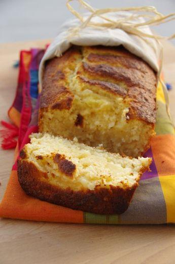 L'antillais {Cake à l'ananas, noix de coco et rhum