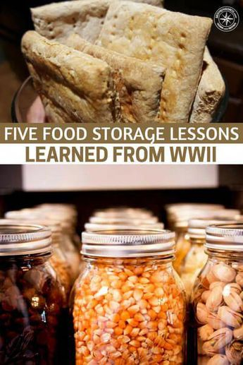 Five Food Storage Lessons Learned from WWII - This article focuses on the food storage lessons that could be learned from WWII. During this time resources were limited and people had to struggle along with the soldiers. That is a decidedly different look than war fighting in the modern age. #foodstorage #prepping #preparedness #prepper #survival #shtf #homestead #homesteading #selfsufficient #foodforsurvival