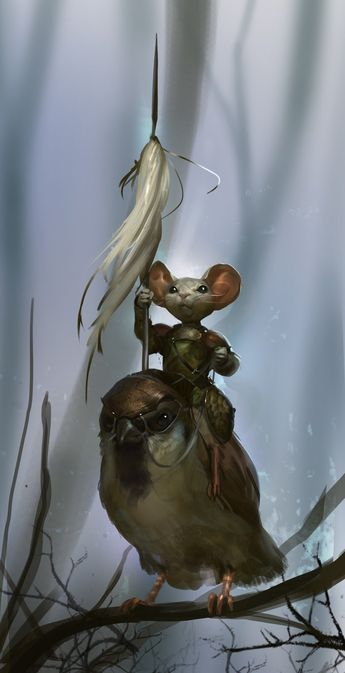 eEven Amundsen digital painting Mouse garden of the forest