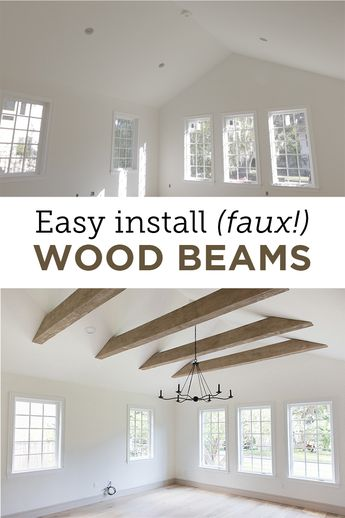 Faux Wood Beams: Heights House
