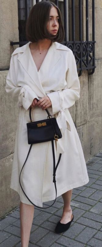 Kasia Szymkow carrying our Lee Radziwill Petite Bag