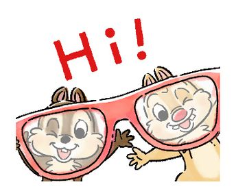 Chip 'n' Dale: Mini Size | Line Sticker