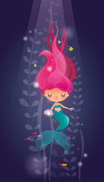 Little mermaid relaxes deep in the ocean!