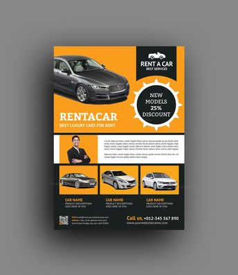 Rent a Car Flyer Design Template - Graphic Templates