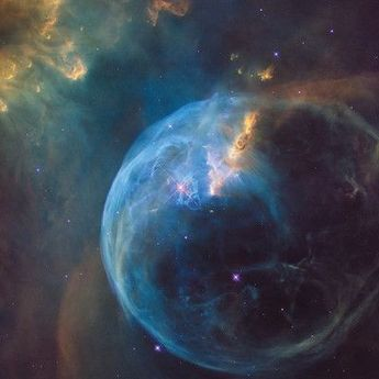 East Urban Home 'The Bubble Nebula (NGC 7635)' Graphic Art on Canvas