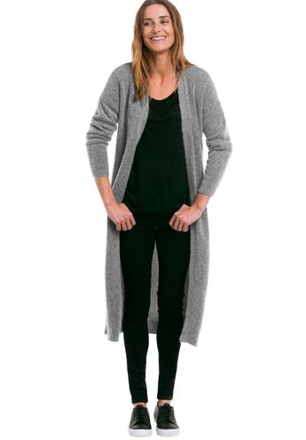 Long Sleeve Duster Cardigan by Ellos® - Women's Plus Size Clothing