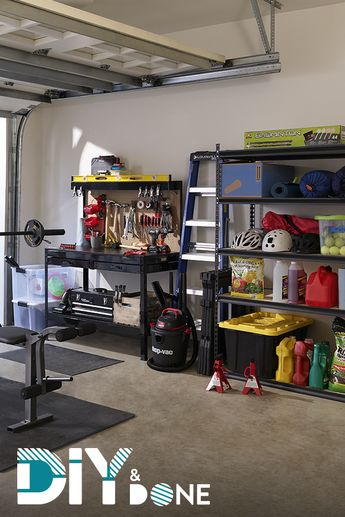 Get your garage in shape! Save up to 35% on everything you need to sort, stack & store.