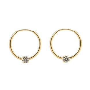f0949e057 Children's Earrings Children's Gold Earrings Safety Back Earring from  Gemologica, A Fine Online Jewelry Store