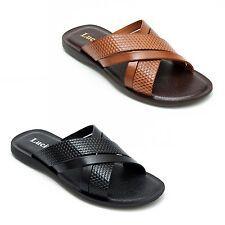 Lucini Mens Casual Genuine Leather Sandals Slipper Summer Beach Wear