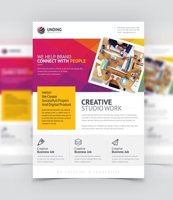 Super Creative Business Flyer Design Template - Graphic Templates