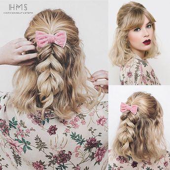 #wedding #bridal #classic #updo #hair #vintage #bride #hairstyle #editorial #redcarpethair #bridesmaid #specialoccasion #hairandmakeupbysteph #inspiration #ideas #waves #braid #bow #halfup #half #short #bangs