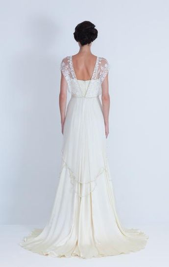 Three of my favourite wedding dresses from Catherine Deane's 2012 Collection featuring vintage inspired lace wedding dresses with lace backs...