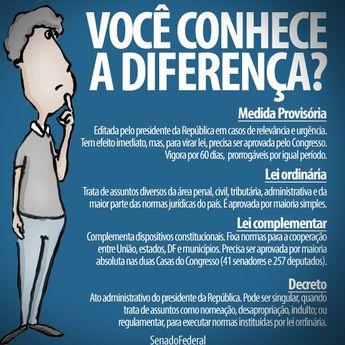 Diferenças entre  Leis