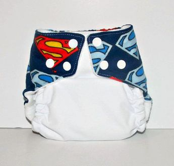 One Size Pocket Cloth Diaper Superman, Reusable Cloth Diaper, One Size Cloth Nappy, One Size Cloth Diaper Cover, Superman Cloth Diaper