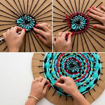 Follow this tutorial to create a circular weave.: