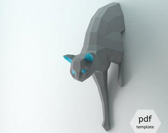PDF à transformer en sculptures en papier murales par par OXYGAMI
