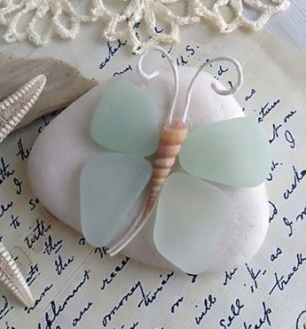 What is beautiful with beach glass to tinker?  #beach #beautiful #glass #tinker