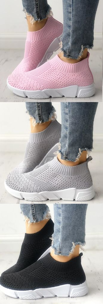 $33.99 USD White All Season Elastic Cloth Sneaker Shoes