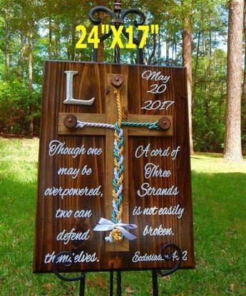 Wedding Gift, Wedding Signs, Wedding Cross Decor, Rustic Wedding Cross, Wedding Decorations, Unity B