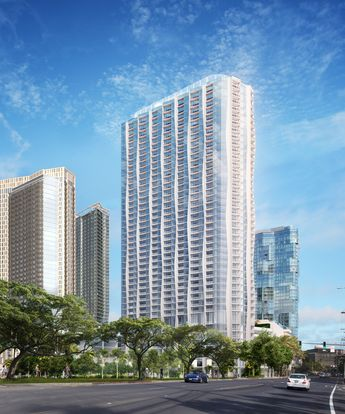 Studio Gang reveals undulating Kō'ula luxury tower for Hawaii