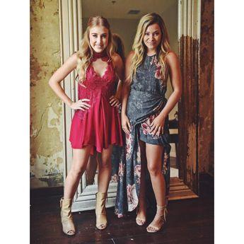 "Maddie & Tae on Instagram: ""#StartHere stylin!! LOVED our looks by @kristaroser last night! @freepeople @matisse_footwear @stevemadden @nashelledesigns #fashion #ootd"""