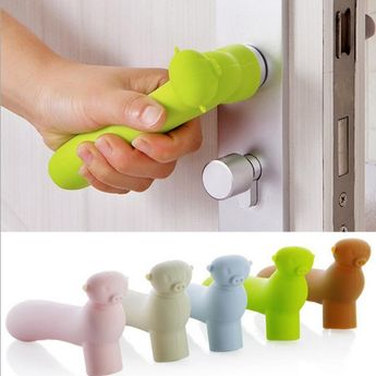 $2.21 AUD - Silicone Home Door Handle Protective Kids Child Safety Doorknob Cover Protective #ebay #Home & Garden