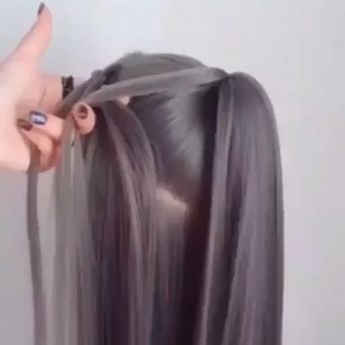 Styling the hairstyle