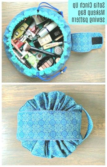 Makeup Bag sewing pattern. This cosmetics bag sewing pattern is such fun to sew ... - #Apartment #Bag #Box #Bracelets #cosmetics #DreamCatcher #fun #Geschenke #Jewelry #Makeup #Mbel #Organization #Pattern #Sew #SEWING #Tumblr #Wood