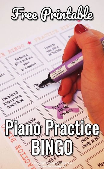 Surprise Your Piano Students with a Practice Bingo Week - Colourful Keys