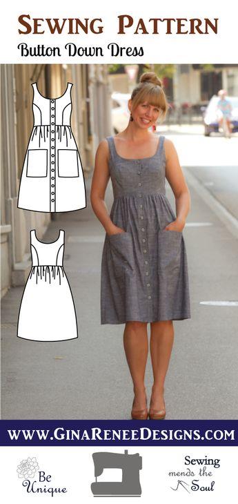 Button Down Dress - Midi Dress Pattern