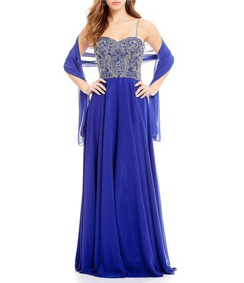 8c4cb1033e Shop for Coya Collection Sweetheart Embroidered Bodice Long Dress at  Dillards.com. Visit Dillards