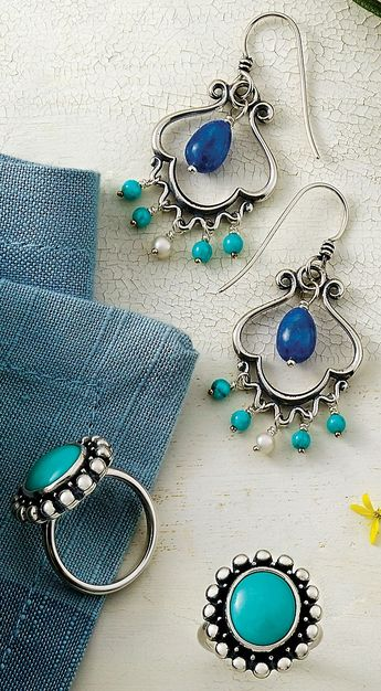 b1595eec9 Adriatic Ear Hooks and Santorini Turquoise Ring #JamesAvery