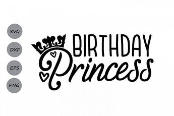 Birthday Princess SVG, Birthday Svg, Birthday Girl Svg