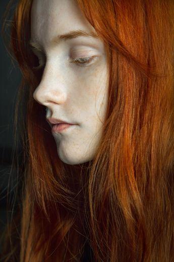 les cheveux longs フ roux redhead haircut coupe coiffure cheveux haar frisur rot