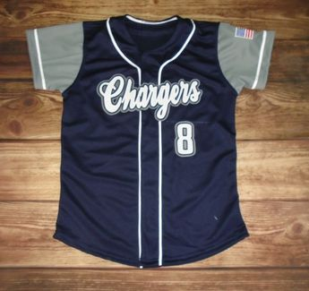 1e290a41856 Chargers Softball custom jersey created at Midtown Sports in Visalia, CA!  Create your own