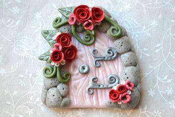 Fairy Door, Fairy Garden Door, Fairy Portal, Gnome Door, Pixie Door, Magic Door, Clay Fairy Door, Flower Fairy Door, Pink Fairy Door, Fairy