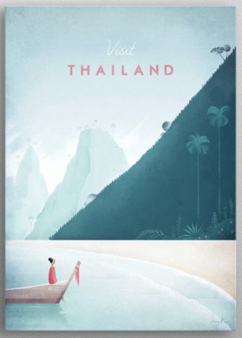 Thailand by Henry Rivers | metal posters