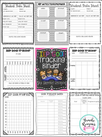 IEP Goal Tracking Binder. This is a must have for every Special Education Teacher! Stay super organized and on top of things with this binder! #specialeducationclassroom