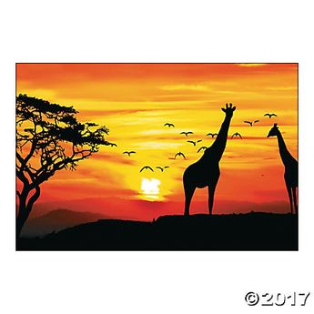 African Safari Backdrop