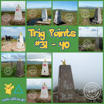40 trig points done! Should complete 50 by October, then slowing down quite a bit coming up to the winter. . . . #osmaps #getoutside #trigpointing #trigpoint #trigbagging #pikachu #pokemon #gottacatchemall #hiking #takeahike #hikingculture #walktographer #walktography #nature #naturelovers #mountainsforthemind #mountainsfellsandhikes #mountain #choosemountains #ukshots%