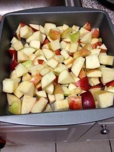 At my Weight Watchers meeting yesterday, my leader told me about a low point apple crisp and I couldn't resist making it today. I love apple... #applewatchfashion