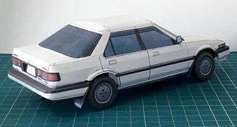 PAPERMAU: 1986`s Honda CA Accord Paper Model In 1/24 Scale - by PGarage