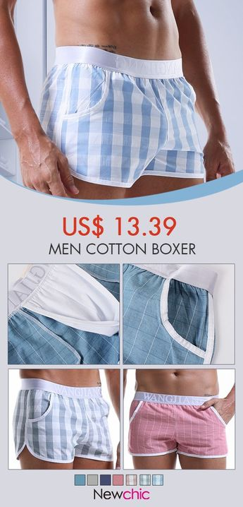 Men Comfy 100%Cotton Liner Pouch Boxer Trunks Elastic Belt Daily Life Arrow Pants Shorts  #mens #boxer #pants