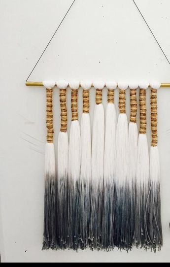 Metallic Threaded Hombre Dip Dyed Wall Hanging
