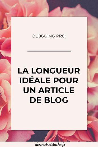 Longueur d'un article de blog : combien de mots écrire ?